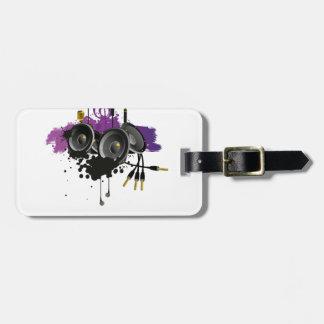 Diseño del vector de la música etiquetas para maletas