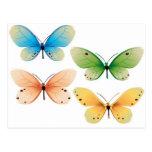 Diseño del vector de las mariposas postal