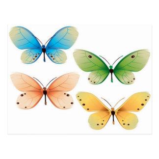 Diseño del vector de las mariposas postales