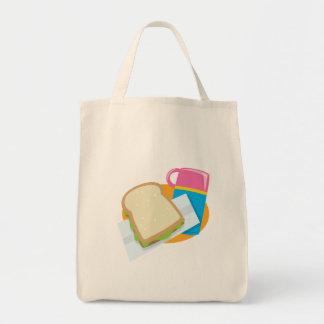 diseño del vector del almuerzo del bocadillo y del bolsas