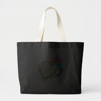 diseño del vector del almuerzo del bocadillo y del bolsa