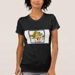 Diseño del vector del chica del arte pop camiseta