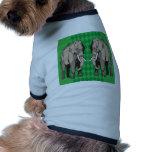 Diseño del vector del elefante camisetas mascota