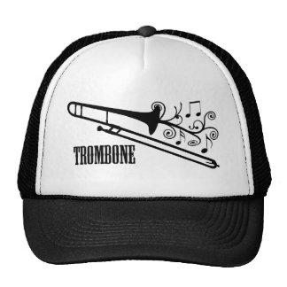 Diseño del vector del Trombone Gorros Bordados