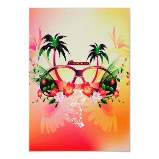 Diseño del verano invitación 8,9 x 12,7 cm