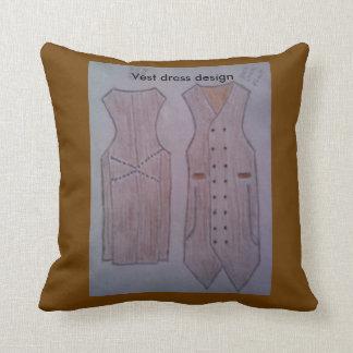 Diseño del vestido del chaleco en él almohada de