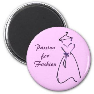 Diseño del vestido elegante con lema adaptable imanes de nevera