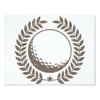 """Diseño del vintage de la pelota de golf invitación 4.25"""" x 5.5"""""""