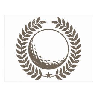 Diseño del vintage de la pelota de golf postales