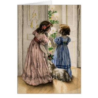 Diseño del vintage de la tarjeta de Navidad de los