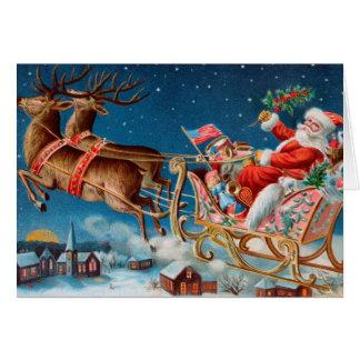 Diseño del vintage de la tarjeta de Navidad de San