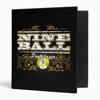 """Diseño del vintage de nueve bolas carpeta 1"""""""