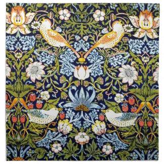 Diseño del vintage de William Morris - ladrón de l Servilletas De Papel