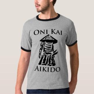 Diseño del vintage del Aikido de Oni Kai Playera