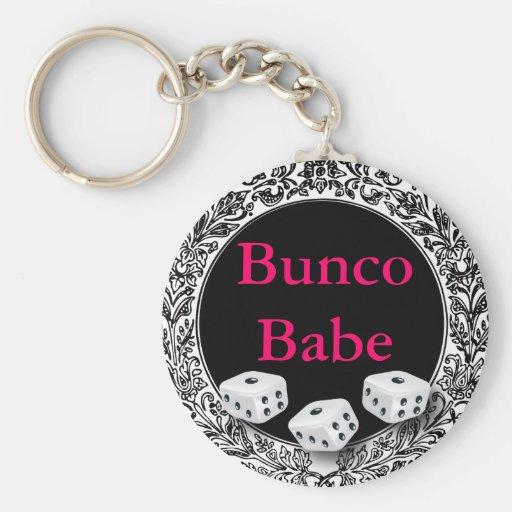 Diseño del vintage del bebé de Bunco Llavero Personalizado