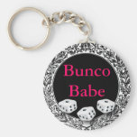 Diseño del vintage del bebé de Bunco Llavero Redondo Tipo Pin
