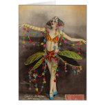 Diseño del vintage del de París del casino Tarjeta