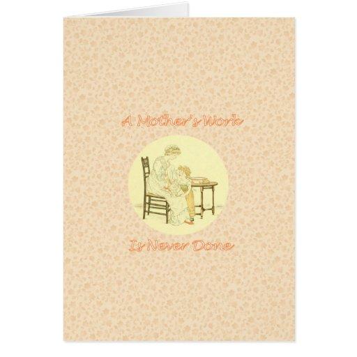 Diseño del vintage del día de madre felicitaciones