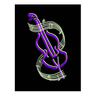 Diseño del violoncelo postal
