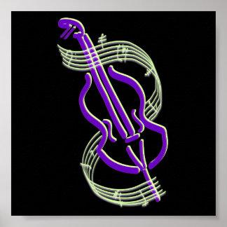 Diseño del violoncelo póster