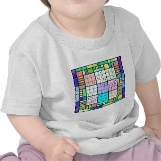 Diseño del vitral de Sudoku Camisetas