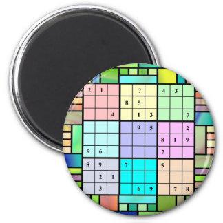 Diseño del vitral de Sudoku Imanes