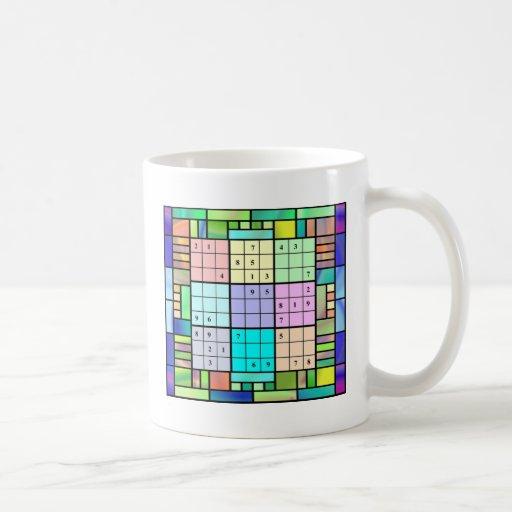 Diseño del vitral de Sudoku Tazas