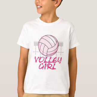 diseño del voleibol del chica del voleo del valle playera