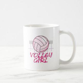 diseño del voleibol del chica del voleo del valle tazas