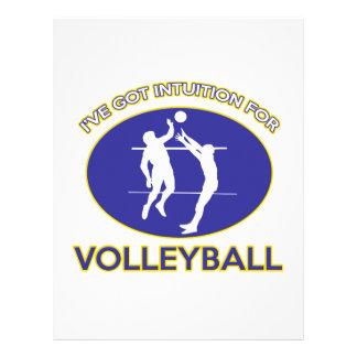 diseño del voleibol membretes personalizados