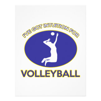 diseño del voleibol membrete personalizado