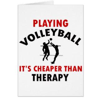 diseño del voleibol tarjeta de felicitación
