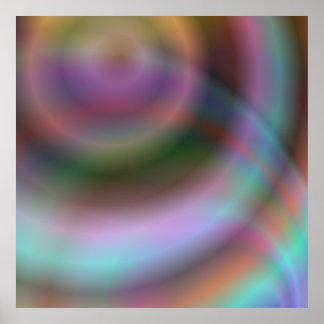 Diseño del vórtice del color póster
