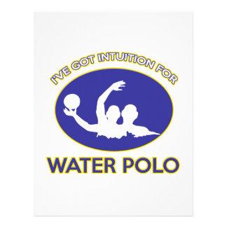 diseño del water polo membrete personalizado