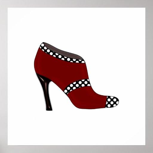 Diseño del zapato del poster de la moda