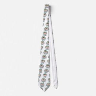 Diseño del zepelín de matasellos originales corbata