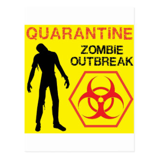 Diseño del zombi tarjetas postales