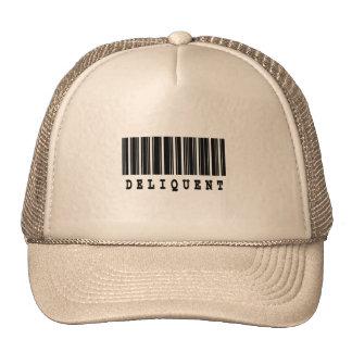 diseño delincuente del código de barras gorra