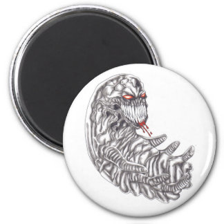 Diseño demoníaco del botón del embrión imán redondo 5 cm