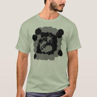 Diseño descolorado de la camiseta
