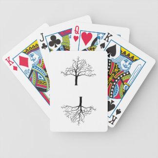 Diseño desnudo del árbol baraja cartas de poker