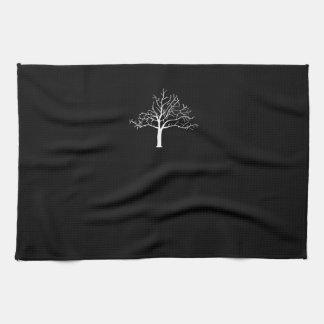 Diseño desnudo del árbol toallas