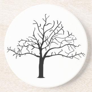 Diseño desnudo del árbol posavasos cerveza
