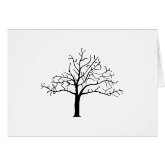 Diseño desnudo del árbol tarjeta pequeña