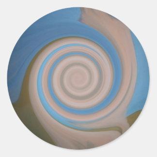 Diseño desnudo neurótico pegatina redonda