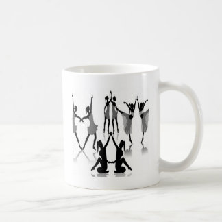 Diseño determinado del bailarín de ballet taza de café