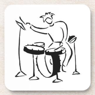 Diseño determinado del bosquejo del bw del extract posavasos de bebida