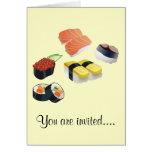 Diseño determinado del sushi tarjetas