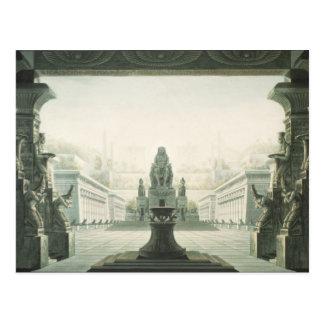Diseño determinado para la escena pasada 'del tarjetas postales