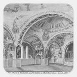 Diseño determinado para la iglesia de Chatillon. Colcomania Cuadrada